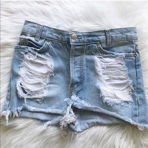Brandy Melville Cut Off Jean Shorts
